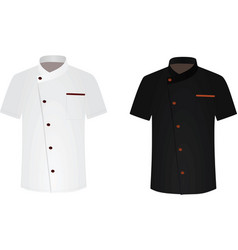 Black and white chef shirt cook uniform vector