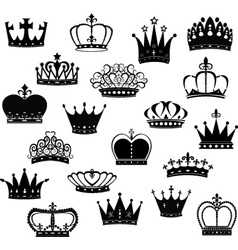 Black Crown Silhouette Collection vector