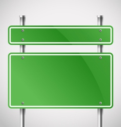 Blank green metal boards vector