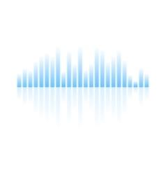 Blue musical equalizer design on white background vector image