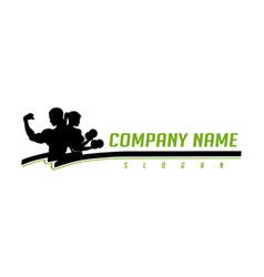 bodybuilders logotype vector image