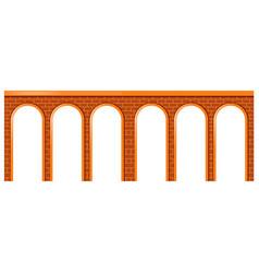 Bridge made of brick stones vector