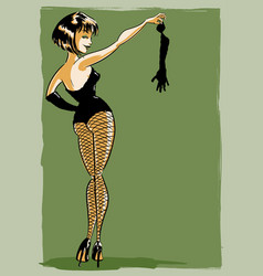 burlesque pin-up character vector image