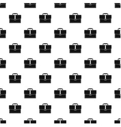 Business briefcase pattern vector