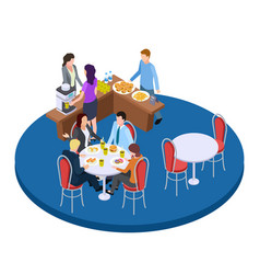 business people on a coffee break isometric vector image