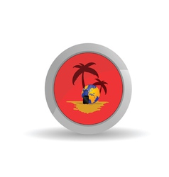 button travel vector image vector image