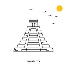 chichen itza monument world travel natural vector image