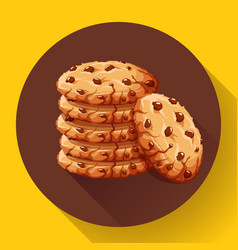 Chocolate crumbs chips icon realistic vector
