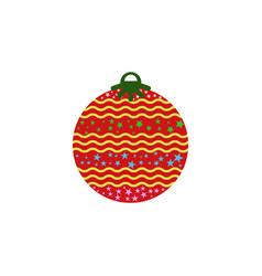 christmas ball color icon element of christmas vector image
