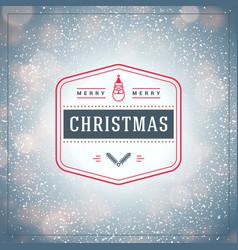 Christmas greeting card vintage christmas vector