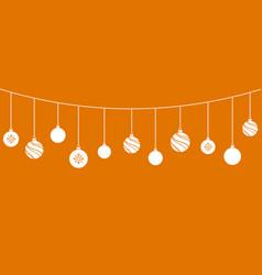 christmas ornaments balls decorations vector image