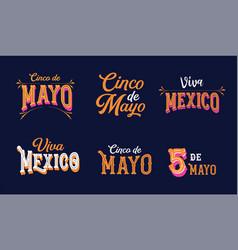 Cinco de mayo viva mexico - may 5 federal vector