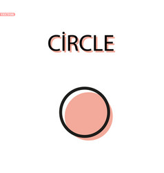 Circle line with pink background element logo vector
