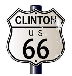 Clinton route 66 sign vector