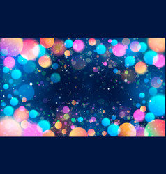 colorful glittering light blots different colored vector image