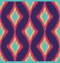 Colorful seamless ikat ethnic pattern vector