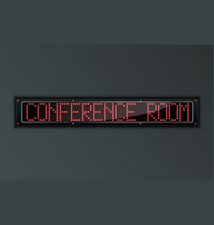 conference room led digital sign vector image