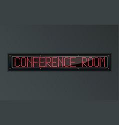 Conference room led digital sign vector