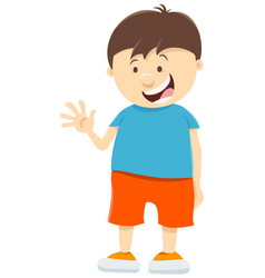 cute kid boy cartoon character vector image