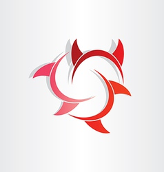 Devil horns abstract symbol vector