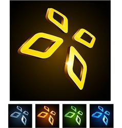 Diamond vibrant emblems vector