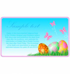 Easter eggs ecard vector