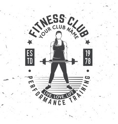 Fitness centre badge vector