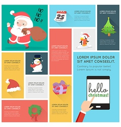 Flat Design christmas Icons Infographic vector image
