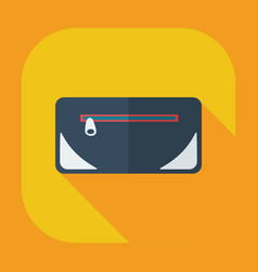 Flat modern design with shadow icons purse vector