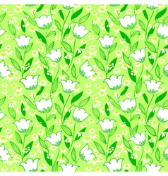 floral seamless background vector image