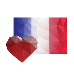 France flag heart love sorrow vector
