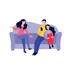 friends spending time together flat vector image