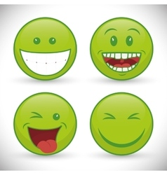 Funny cartoon face vector image