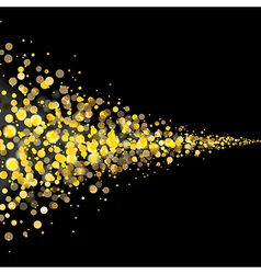gold glittering stars tail dust vector image
