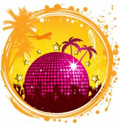 grunge tropical party vector image