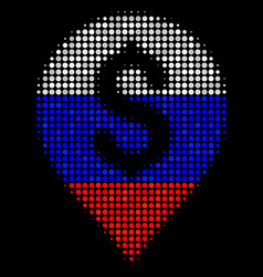 Halftone russian banking map marker icon vector