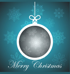 happy new year ball - winter vector image