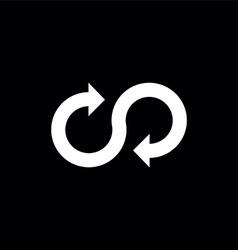 Infinity arrow symbol vector
