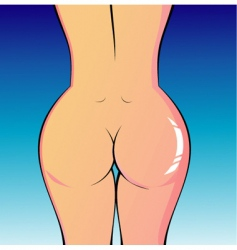 Lady's naked body vector