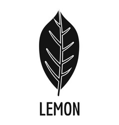 lemon leaf icon simple black style vector image