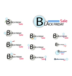 Magnifying Glass Looking for Black Friday vector image
