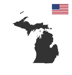 map of the us state of michigan vector image