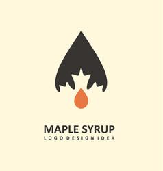 maple syrup logo design vector image