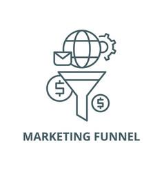 Marketing funnel line icon linear concept vector
