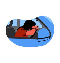 mental stress frustration depression fatigue vector image