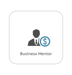 Mentor Icon Business Concept Flat Design vector image