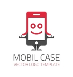 Mobil case logo vector image