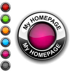My homepage button vector