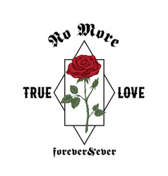No more true love forever and ever abstract vector