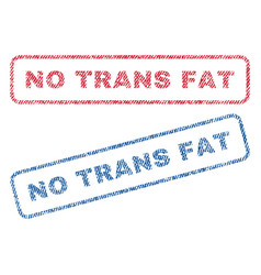 No trans fat textile stamps vector